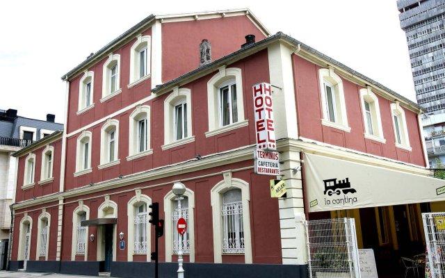 Hotel Terminus Сан-Себастьян вид на фасад