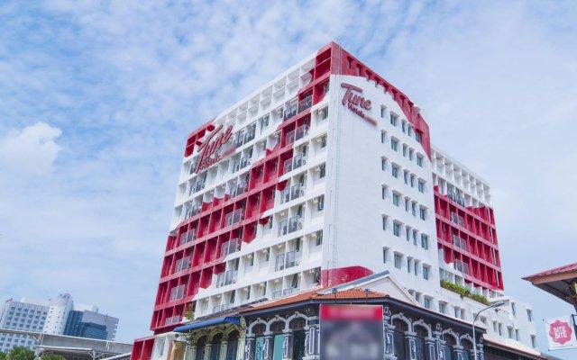 Отель Tune Hotel - Downtown Penang Малайзия, Пенанг - отзывы, цены и фото номеров - забронировать отель Tune Hotel - Downtown Penang онлайн вид на фасад