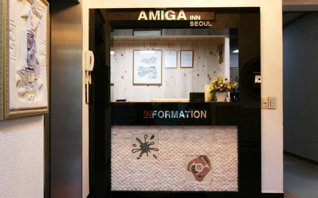 Отель Amiga Inn Seoul вид на фасад