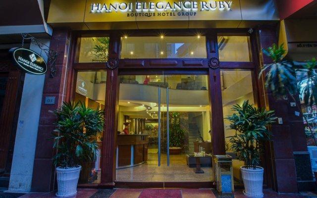 Hanoi Elegance Ruby Hotel вид на фасад