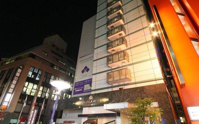 Отель APA Villa Hotel Akasaka-Mitsuke Япония, Токио - отзывы, цены и фото номеров - забронировать отель APA Villa Hotel Akasaka-Mitsuke онлайн вид на фасад