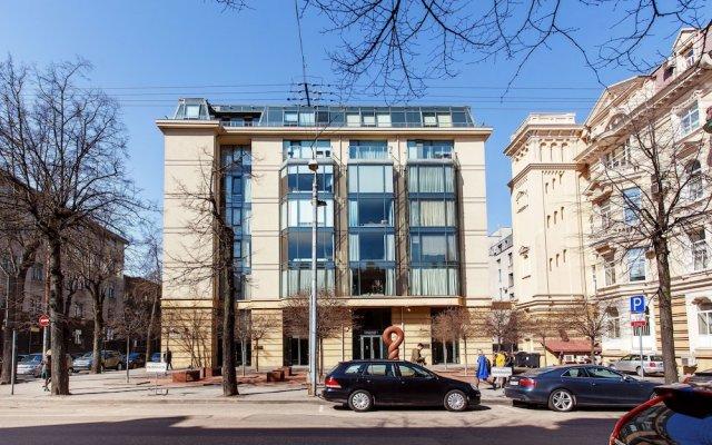 Апартаменты Jolly apartments Вильнюс вид на фасад