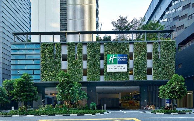 Отель Holiday Inn Express Singapore Orchard Road Сингапур вид на фасад