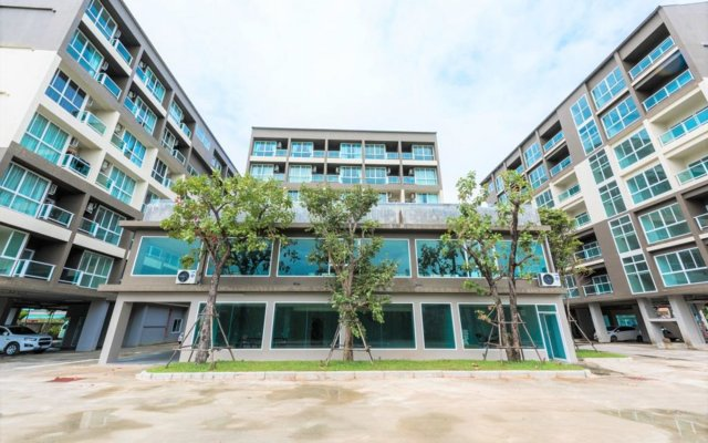 Отель JJ Airport Condotel Таиланд, пляж Май Кхао - отзывы, цены и фото номеров - забронировать отель JJ Airport Condotel онлайн вид на фасад