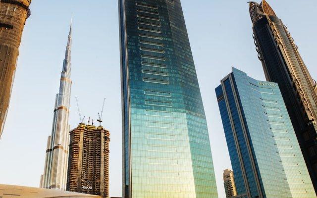 Отель Dream Inn 48 Burj Gate Burj Khalifa View вид на фасад