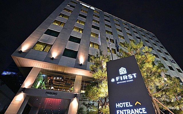 Отель A First Myeong Dong Сеул вид на фасад