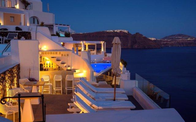 Отель La Perla Villas - Adults Only Греция, Остров Санторини - отзывы, цены и фото номеров - забронировать отель La Perla Villas - Adults Only онлайн вид на фасад