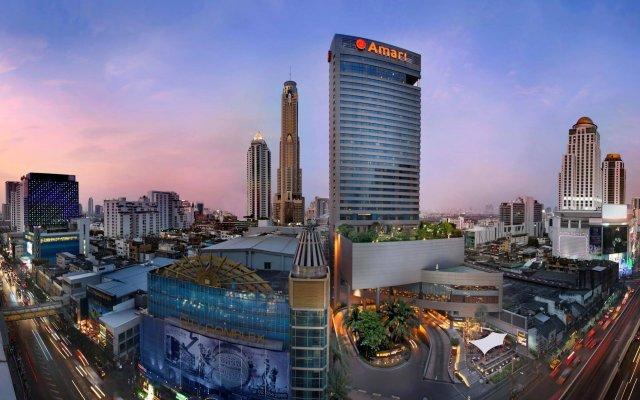 Отель Amari Watergate Bangkok Таиланд, Бангкок - 2 отзыва об отеле, цены и фото номеров - забронировать отель Amari Watergate Bangkok онлайн вид на фасад