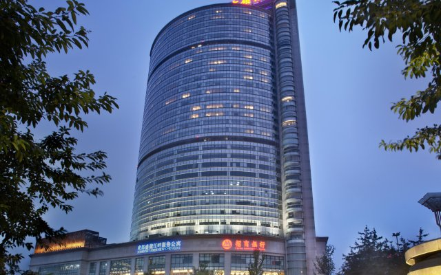 Отель Somerset Riverview Chengdu вид на фасад