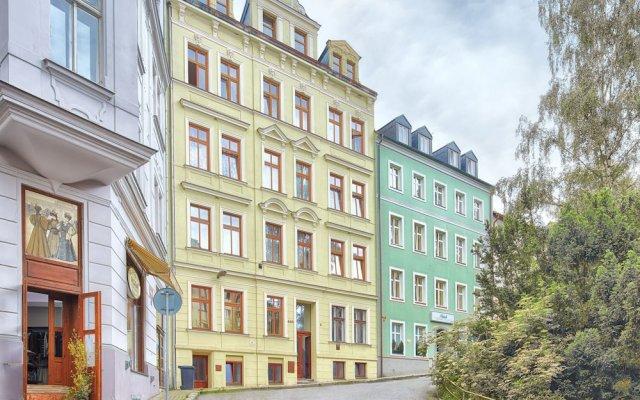Отель Libušina Чехия, Карловы Вары - отзывы, цены и фото номеров - забронировать отель Libušina онлайн вид на фасад
