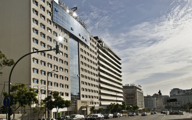 Отель Sana Lisboa Лиссабон вид на фасад