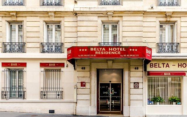 Отель Belta Париж вид на фасад