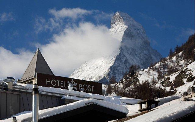 Отель Unique Hotel Post Швейцария, Церматт - отзывы, цены и фото номеров - забронировать отель Unique Hotel Post онлайн вид на фасад