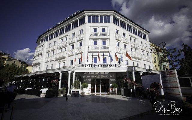Отель Colosseo Tirana Албания, Тирана - 1 отзыв об отеле, цены и фото номеров - забронировать отель Colosseo Tirana онлайн вид на фасад