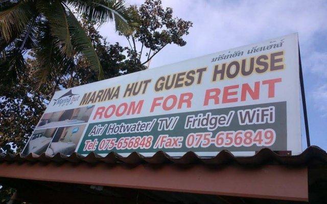 Отель Marina Hut Guest House - Klong Nin Beach вид на фасад