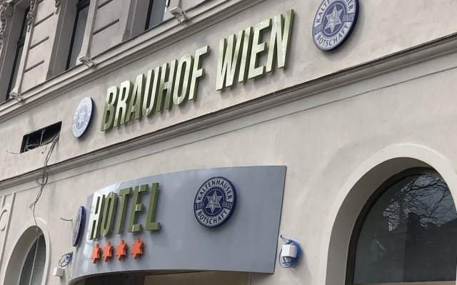 Отель Brauhof Wien Вена вид на фасад