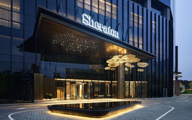 Отель Sheraton Shenzhen Nanshan Шэньчжэнь вид на фасад