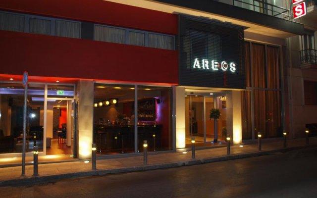 Отель Areos Hotel Греция, Афины - 1 отзыв об отеле, цены и фото номеров - забронировать отель Areos Hotel онлайн вид на фасад