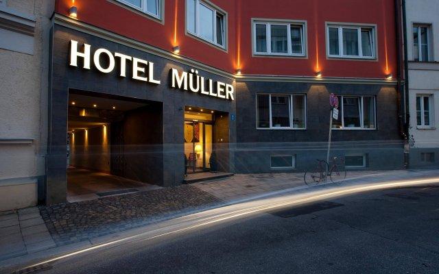 Hotel Muller Munich Мюнхен вид на фасад