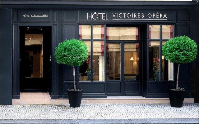 Отель Victoires Opera Париж вид на фасад
