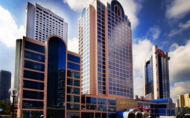 Hotel Equatorial Shanghai вид на фасад