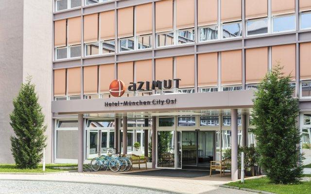 Отель AZIMUT Hotel Munich Германия, Мюнхен - 10 отзывов об отеле, цены и фото номеров - забронировать отель AZIMUT Hotel Munich онлайн вид на фасад