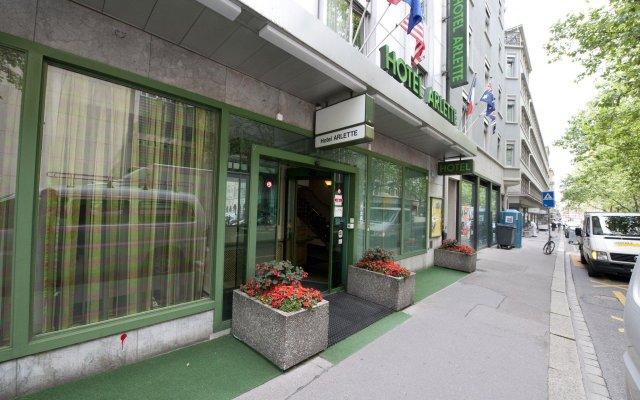 Отель Arlette Beim Hauptbahnhof Швейцария, Цюрих - 1 отзыв об отеле, цены и фото номеров - забронировать отель Arlette Beim Hauptbahnhof онлайн вид на фасад