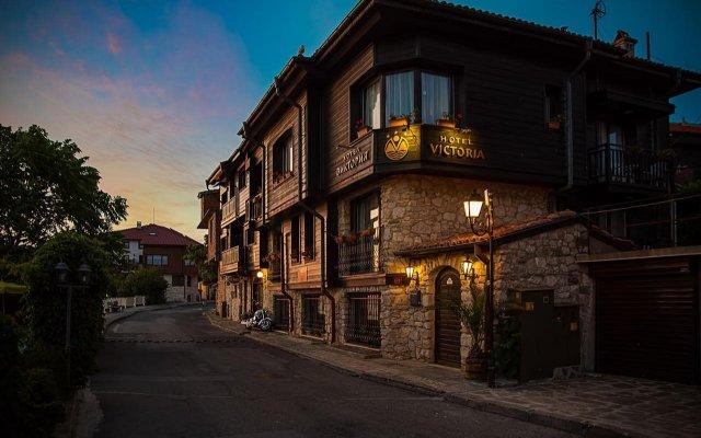 Отель Виктория Отель Болгария, Несебр - отзывы, цены и фото номеров - забронировать отель Виктория Отель онлайн вид на фасад
