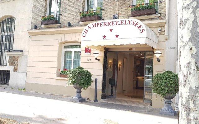 Отель Champerret Elysees Париж вид на фасад