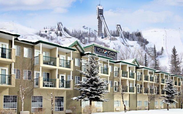 Отель Four Points by Sheraton Hotel & Suites Calgary West Канада, Калгари - отзывы, цены и фото номеров - забронировать отель Four Points by Sheraton Hotel & Suites Calgary West онлайн вид на фасад