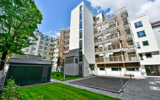 Апартаменты Forenom Serviced Apartments Oslo Majorstuen вид на фасад