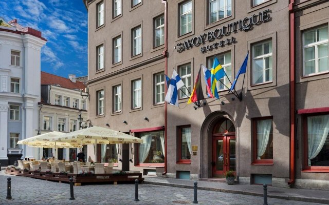Savoy Boutique Hotel by TallinnHotels Таллин вид на фасад
