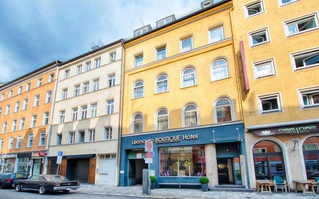 Отель Leonardo Boutique Munich Мюнхен вид на фасад
