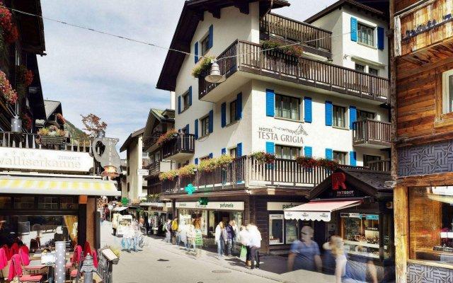 Отель Garni Testa Grigia Швейцария, Церматт - отзывы, цены и фото номеров - забронировать отель Garni Testa Grigia онлайн вид на фасад