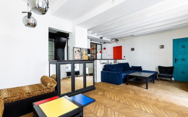 Отель Bauhaus Magic in the Marais Париж комната для гостей