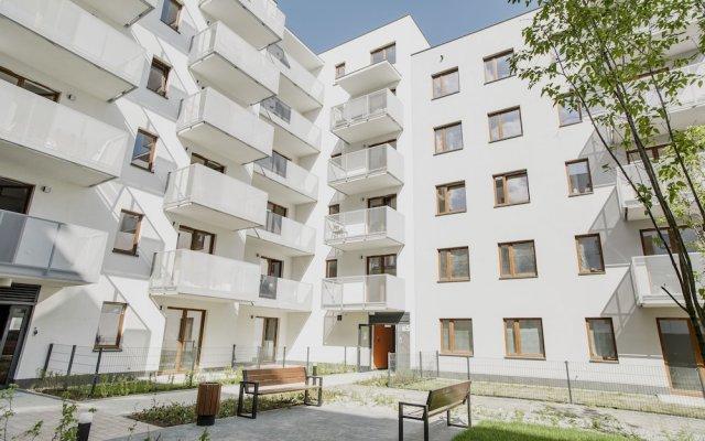 Апартаменты Prudentia Apartments Szaserow Варшава вид на фасад