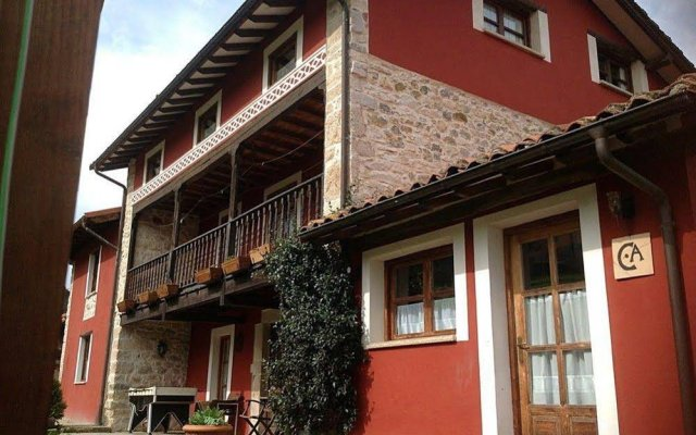 Отель Casa Del Tesoro Кангас-де-Онис вид на фасад