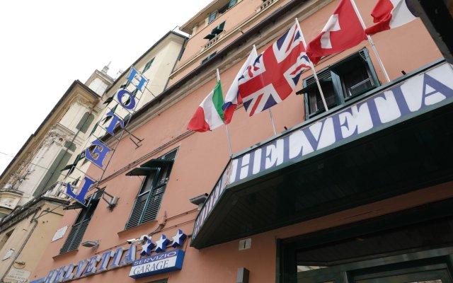 Hotel Helvetia Генуя вид на фасад
