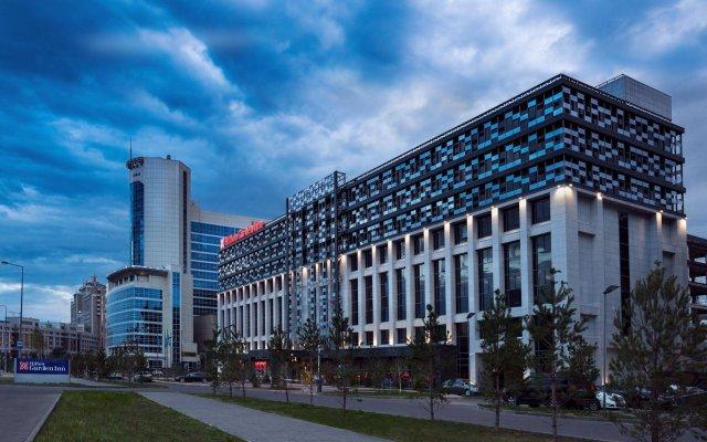 Гостиница Hilton Garden Inn Astana Казахстан, Нур-Султан - 1 отзыв об отеле, цены и фото номеров - забронировать гостиницу Hilton Garden Inn Astana онлайн вид на фасад