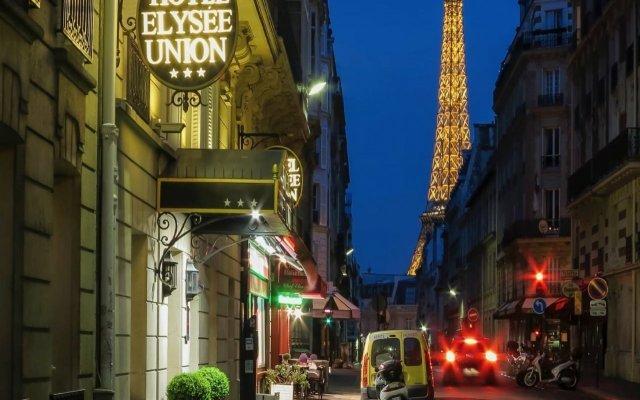 Отель Elysées Union Франция, Париж - 8 отзывов об отеле, цены и фото номеров - забронировать отель Elysées Union онлайн вид на фасад