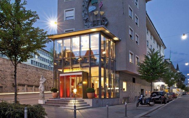 Hotel du Theatre by Fassbind Цюрих вид на фасад
