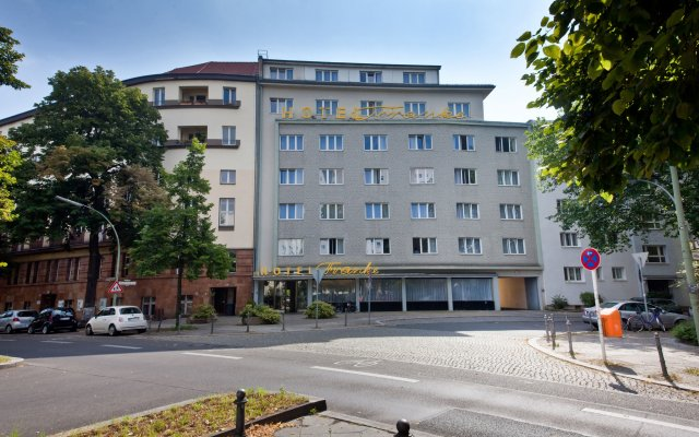 Novum Hotel Franke Берлин вид на фасад