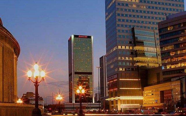 Отель Warsaw Marriott Hotel Польша, Варшава - 10 отзывов об отеле, цены и фото номеров - забронировать отель Warsaw Marriott Hotel онлайн вид на фасад