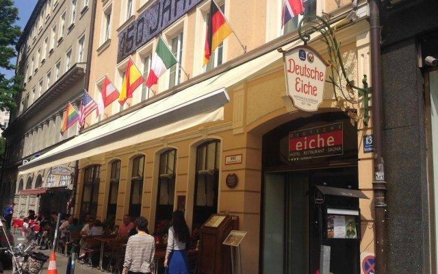 Отель Deutsche Eiche Германия, Мюнхен - отзывы, цены и фото номеров - забронировать отель Deutsche Eiche онлайн вид на фасад