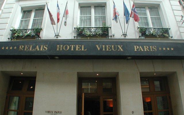 Отель Relais Du Vieux Paris Париж вид на фасад