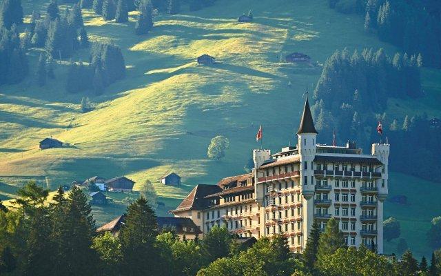 Отель Gstaad Palace Швейцария, Гштад - отзывы, цены и фото номеров - забронировать отель Gstaad Palace онлайн вид на фасад