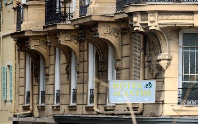 Отель Hôtel Acanthe вид на фасад