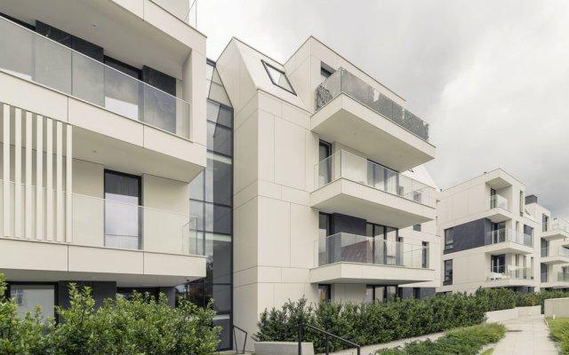 Апартаменты Luxury Apartments - Okrzei Residence Сопот вид на фасад