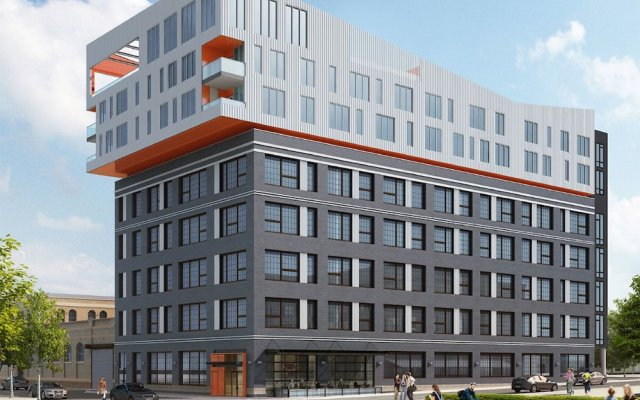 Отель SoBe Downtown Columbus Apartments США, Колумбус - отзывы, цены и фото номеров - забронировать отель SoBe Downtown Columbus Apartments онлайн вид на фасад