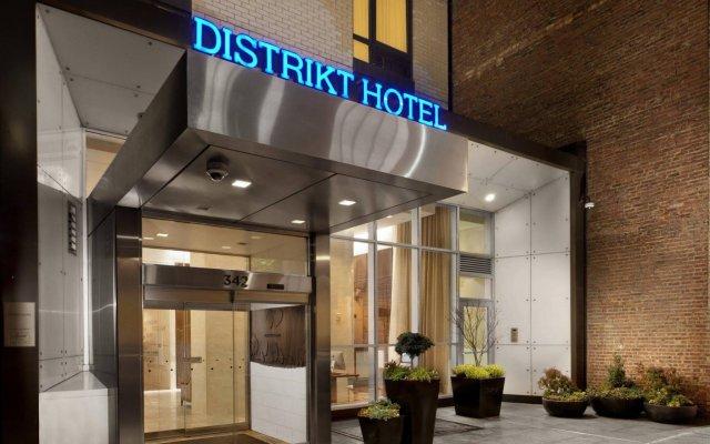 Distrikt Hotel New York City вид на фасад